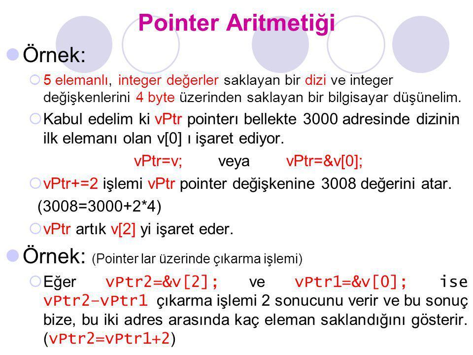 vPtr=v; veya vPtr=&v[0];